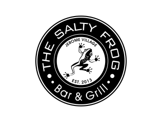 The Salty Frog - Bar & Grill logo design