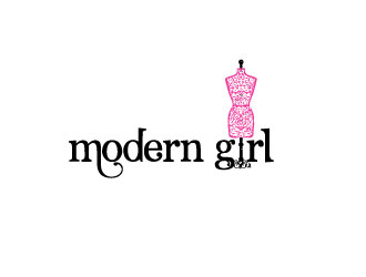 THE MODERN GIRL logo design