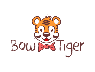 Bow-Tiger logo design