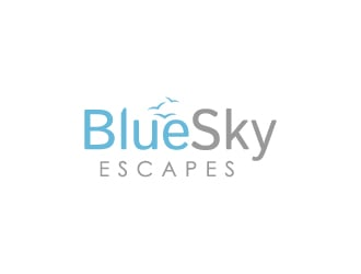 Blue Sky Escapes logo design