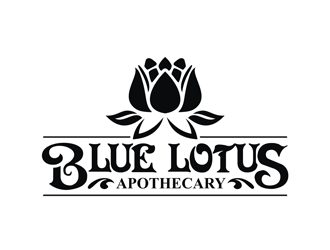 Blue Lotus Apothecary logo design