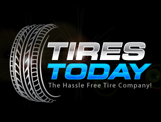 Tires Today: The Hassle Free Tire Company! logo winner