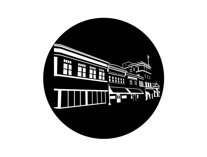 Agape Church Line Drawing Gobo logo design