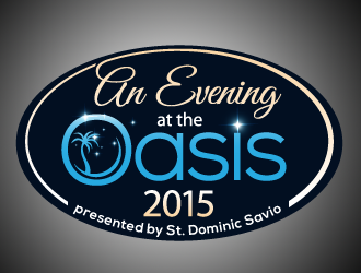 An Evening at the Oasis 2015 logo design