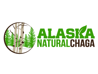 Alaska Natural Chaga logo design