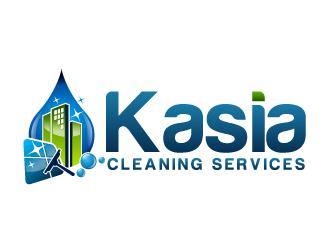 Kasia Cleaning Services logo design - 48HoursLogo.com