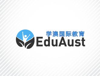 English Name: EduAust  Chinese name: 学澳国际教育   (EduAust - 学澳国际教育) logo design winner
