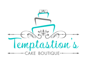 Cake Company Logo Design : Temptastions Cake Boutique logo design - 48HoursLogo.com