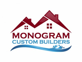 monogram custom builders logo design