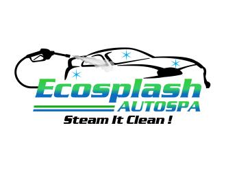 """Ecosplash Autospa """"Steam It Clean!"""" logo design"""