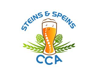 CCA Steins and Spines logo design winner