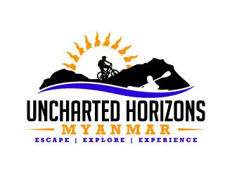Uncharted Horizons Myanmar logo design