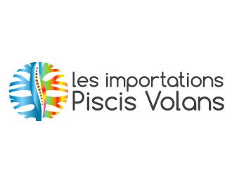 ( les importations ) Piscis Volans logo design