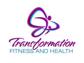 transformation fitness and health logo design
