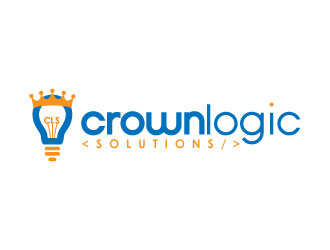 Crownlogic Solutions logo design
