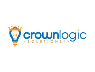 Crownlogic Solutions logo design