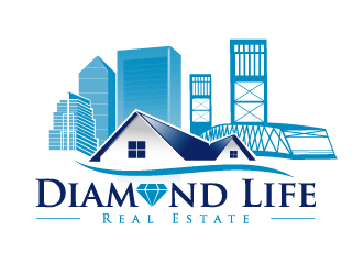 diamond life real estate logo design