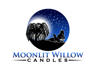 Moonlit Willow Candles logo design