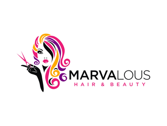 Marvalous Hair Beauty Logo Design Concepts 88