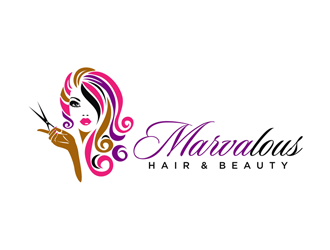 Marvalous Hair Beauty Logo Design Concepts 98