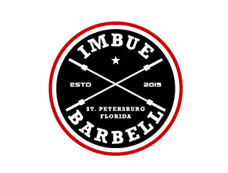 Imbue Barbell logo design