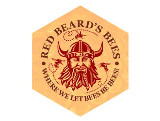 Red Beard's Bees and Aviary logo design