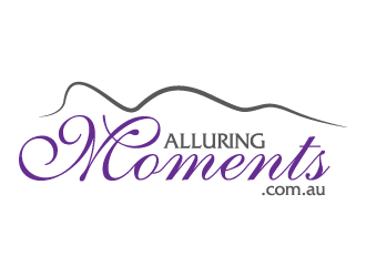 Alluring Moments .com .au logo design
