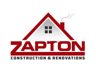 Zapton construction & renovations logo design