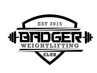 Badger Weightlifting Club logo design