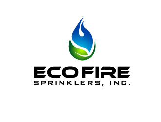 ECO FIRE SPRINKLERS, INC. logo design