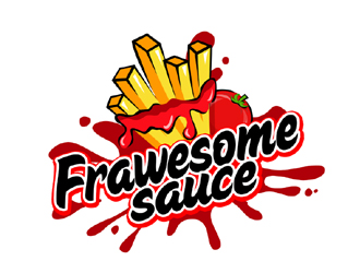 Frawesome Sauce (like fries + awesome) logo design
