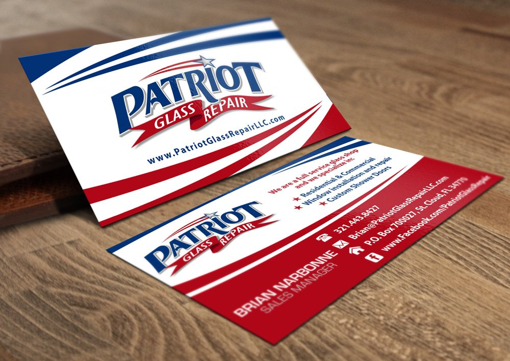 Patriot Glass Repair, LLC brand identity winner