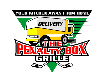 The Penalty Box Cafe & Grille logo design