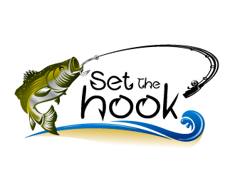 set the hook fishing logo design 48hourslogocom