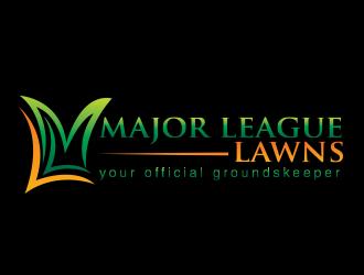 major league lawns logo design