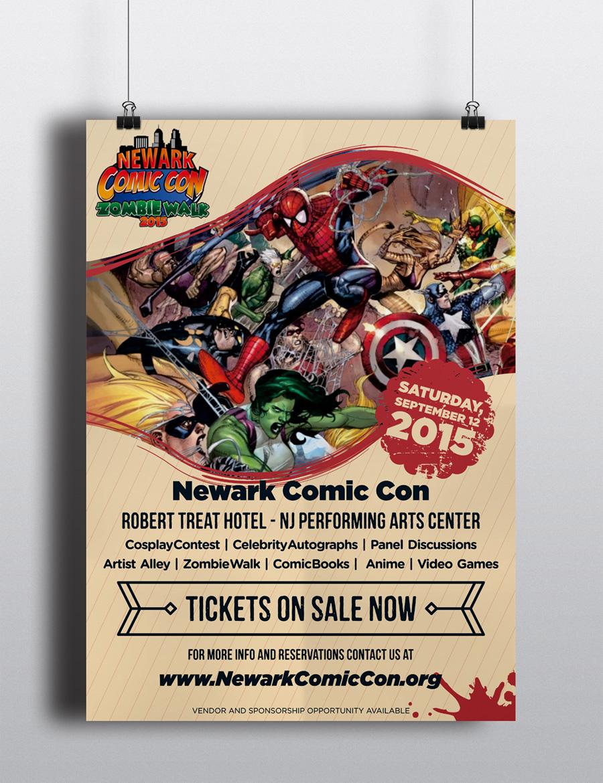 Newark Comic Con ( Poster ) Logo Design Concepts #5