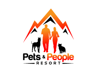 Pets and People Resort logo design