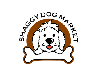 shaggy dog market logo design 48hourslogocom