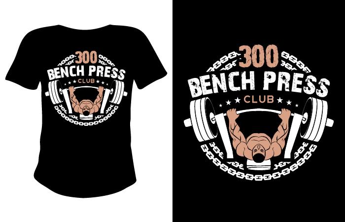 Ordinary 400 Lb Bench Press Club Part - 14: Bench Press Club Logo Design Concepts #12