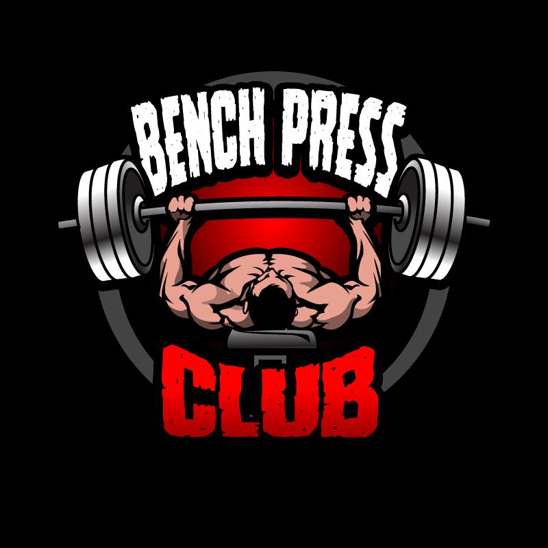 bench press club print design 48hourslogo com