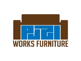 Puzl Works Furniture Logo Design
