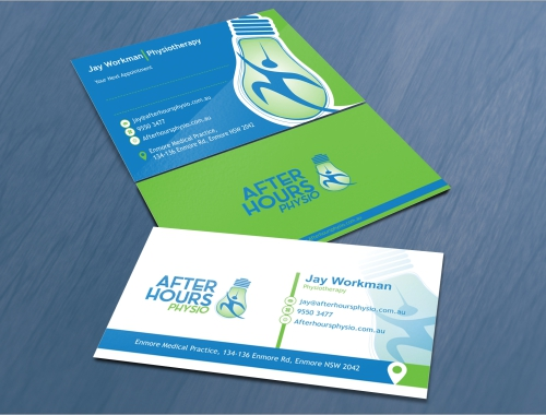 After Hours Physio logo design