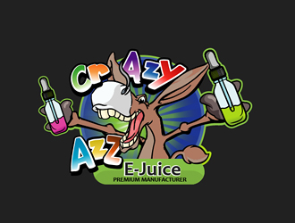 Crazy Azz E-Juice logo design - 48HoursLogo com