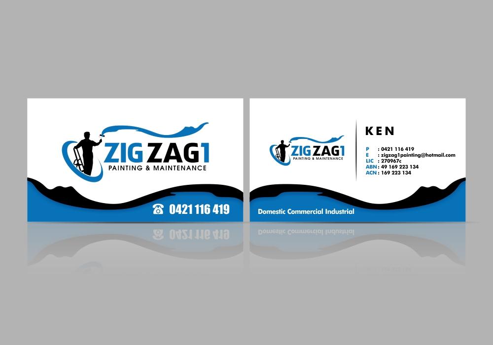 Zig Zag 1 Painting & Maintenance logo design