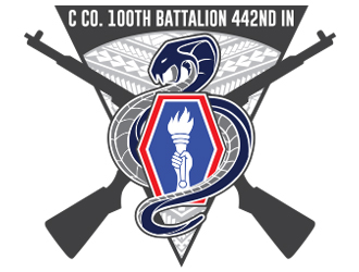 C Co. 100th Battalion 442nd IN logo design