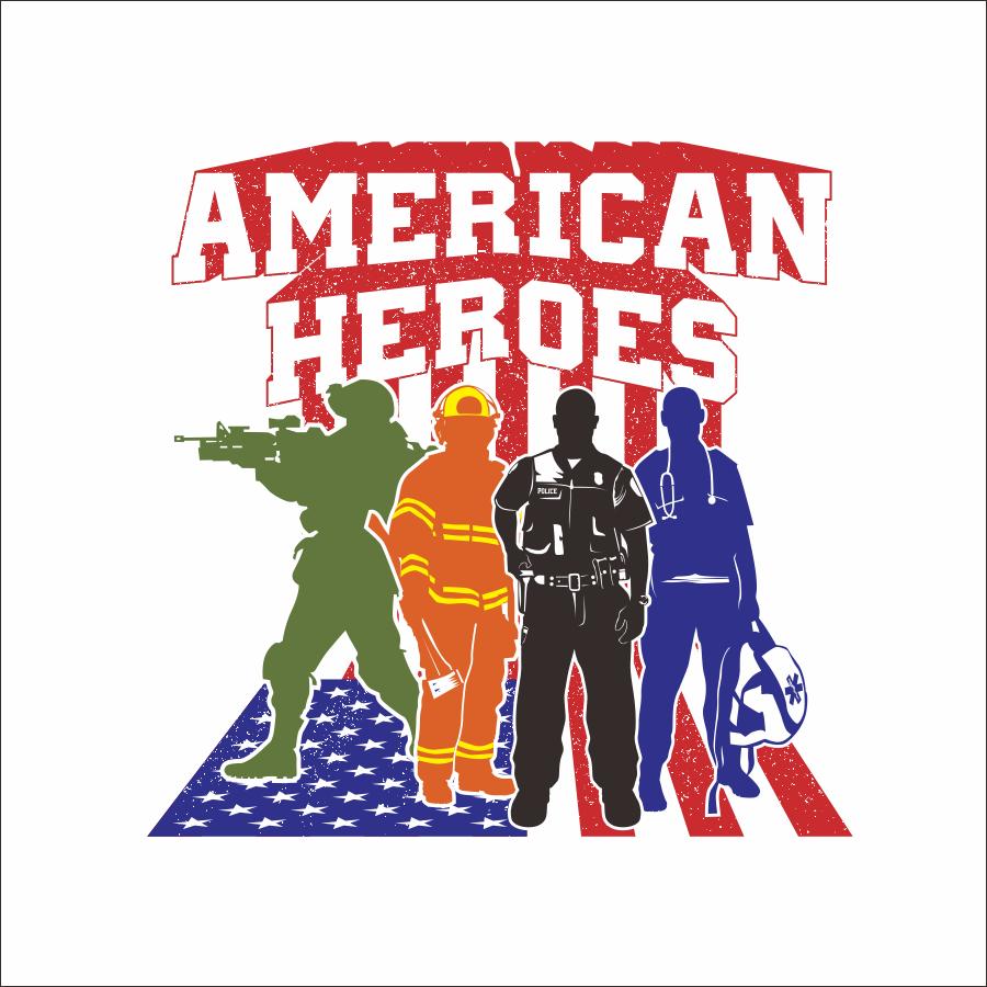 American Heroes logo design
