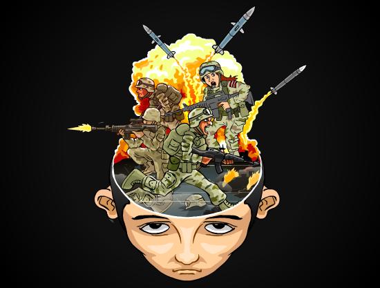 Cartoon Of a Head/Brain (Male) logo design