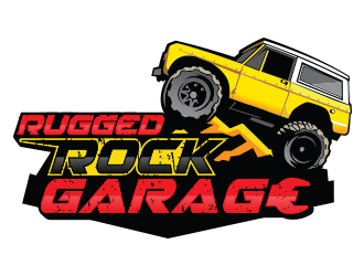 Rugged Rock Garage logo design