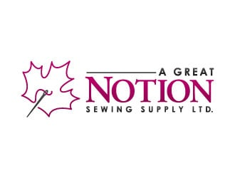 A Great Notion Sewing Supply Ltd logo design
