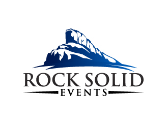Rock Solid Events logo design